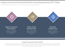Analyze Document Recruitments Define Scope Business Area Ppt Slides