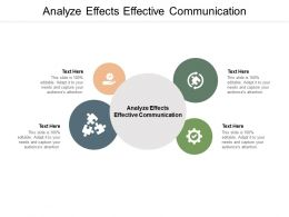 Analyze Effects Effective Communication Ppt Powerpoint Presentation Outline Cpb