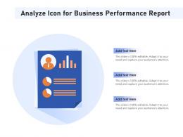 Analyze Icon For Business Performance Report