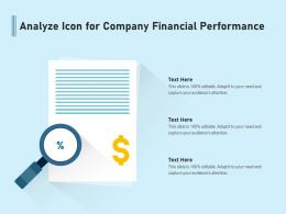 Analyze Icon For Company Financial Performance