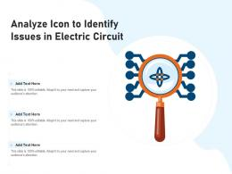 Analyze Icon To Identify Issues In Electric Circuit