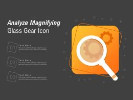 Analyze Magnifying Glass Gear Icon
