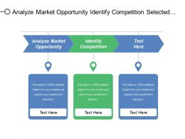 Analyze Market Opportunity Identify Competition Selected Target Segment