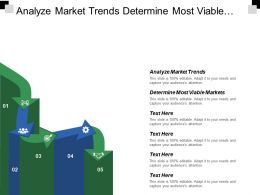 Analyze Market Trends Determine Most Viable Markets Target Markets