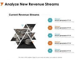 Analyze New Revenue Streams Currency Ppt Powerpoint Presentation Icon Templates