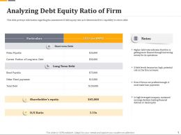 Analyzing Debt Equity Ratio Of Firm Ppt File Brochure