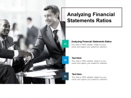 Analyzing Financial Statements Ratios Ppt Powerpoint Presentation Gallery Infographic Template Cpb