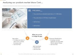 Analyzing Our Products Market Share Cont Providing Innovation Ppt Visual Aids Professional