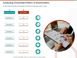 Analyzing Ownership Pattern Of Shareholders M791 Ppt Powerpoint Presentation File Infographics