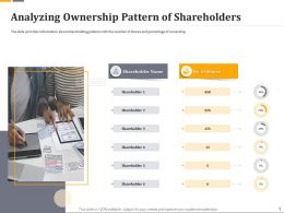 Analyzing Ownership Pattern Of Shareholders Ppt Template