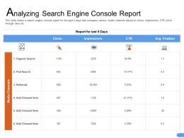 Analyzing Search Engine Console Report Pad Ppt Powerpoint Presentation Designs