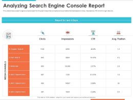Analyzing Search Engine Console Report Referrals Ppt Presentation Templates