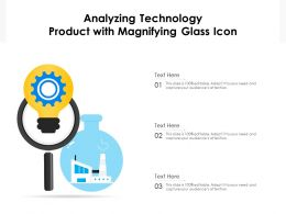 Analyzing Technology Product With Magnifying Glass Icon