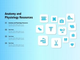 Anatomy And Physiology Resources Ppt Powerpoint Presentation Inspiration Design