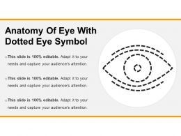 Anatomy Of Eye With Dotted Eye Symbol