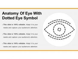 Anatomy Of Eye With Dotted Eye Symbol