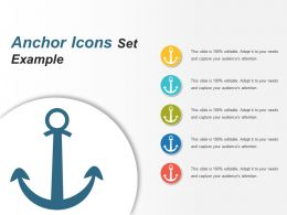 Anchor Icons Set Example