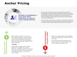 Anchor Pricing Ppt Powerpoint Presentation Outline Aids
