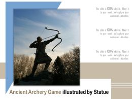 Ancient Archery Game Illustrated By Statue