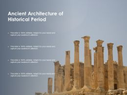 Ancient Architecture Of Historical Period