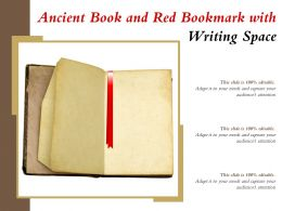 Ancient Book And Red Bookmark With Writing Space
