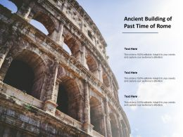 Ancient Building Of Past Time Of Rome