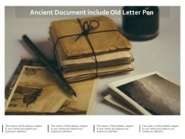 Ancient Document Include Old Letter Pen