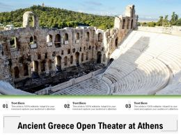Ancient Greece Open Theater At Athens