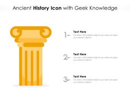 Ancient History Icon With Geek Knowledge