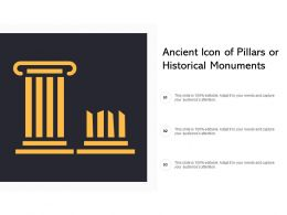 Ancient Icon Of Pillars Or Historical Monuments