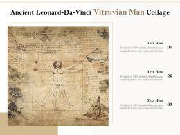 Ancient Leonard Da Vinci Vitruvian Man Collage