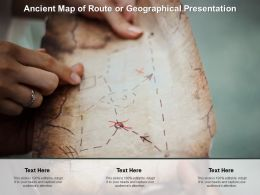 Ancient Map Of Route Or Geographical Presentation