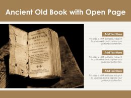 Ancient Old Book With Open Page