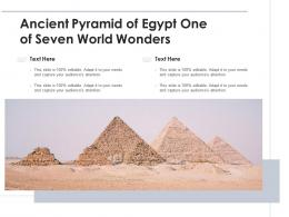 Ancient Pyramid Of Egypt One Of Seven World Wonders