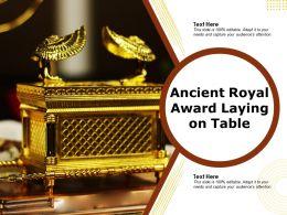 Ancient Royal Award Laying On Table