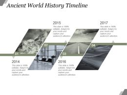 Ancient World History Timeline Sample Of Ppt