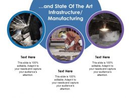 And State Of The Art Infrastructure Manufacturing Ppt File Example