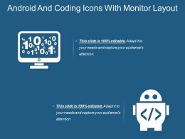 Android And Coding Icons With Monitor Layout