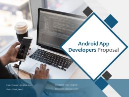 Android App Developers Proposal Powerpoint Presentation Slides