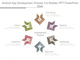 Android App Development Process For Mobiles Ppt Powerpoint Slide