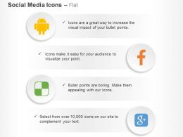 Android Facebook Google Plus Delicious Ppt Icons Graphics