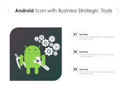 Android Icon With Business Strategic Tools
