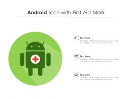 Android Icon With First Aid Mark