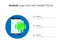 Android Logo Icon With Mobile Phone