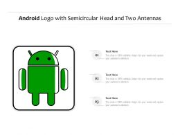 Android Logo With Semicircular Head And Two Antennas