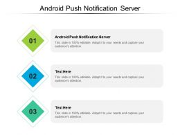 Android Push Notification Server Ppt Powerpoint Presentation Icon Show Cpb