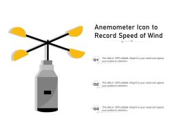 Anemometer Icon To Record Speed Of Wind