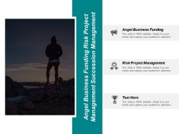 Angel Business Funding Risk Project Management Succession Management Cpb