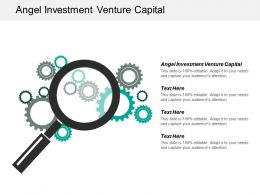 Angel Investment Venture Capital Ppt Powerpoint Presentation Pictures Examples Cpb
