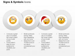 Anger Sad Christmas Crying Emoticons Ppt Icons Graphics